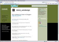 Rebok-twitter in Twittern im Corporate Design