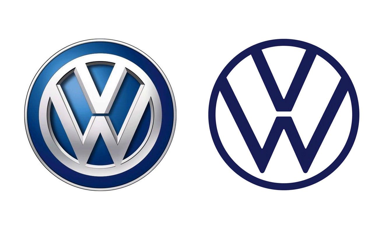 Volkswagenlogos 2000 und 2019